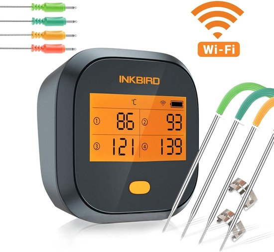 Inkbird IBBQ-4T wifi vleesthermometer
